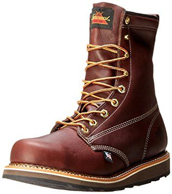 ea429b32131 Thorogood Men's American Heritage 8″ Round Toe, MAXWear Wedge Safety ...