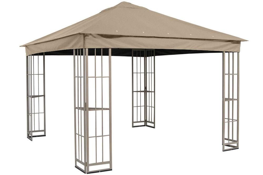 Garden Treasures 10 X10 Canopy For S J 109dn In Taupe Gazebo Replacement Canopy Gazebo Pergola Canopy