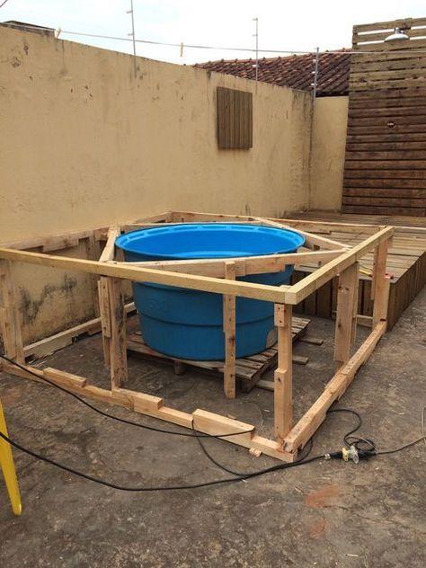 Photo of Como elaborar una piscina casera con un recipiente de agua y pallets – Ideas Per…