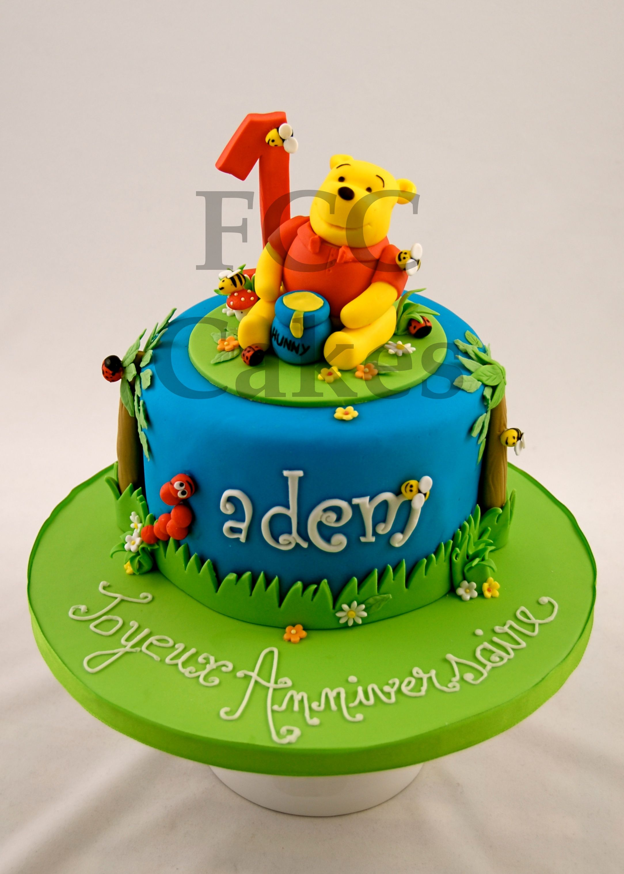 Childrens Birthday Cake Gateau D Anniversaire Pour Enfants Winnie