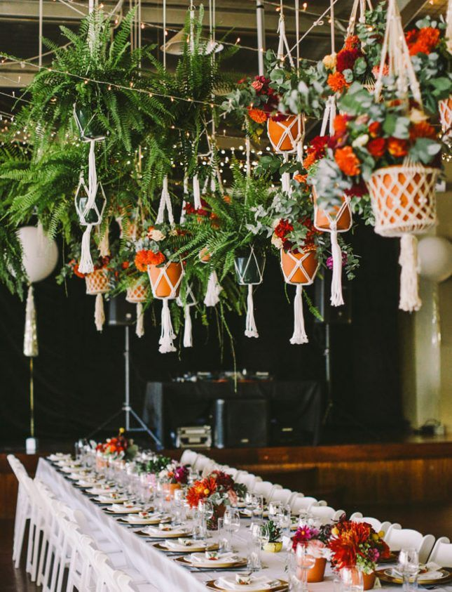 18 Hanging Flower Displays For Your Wedding Flower Wedding And