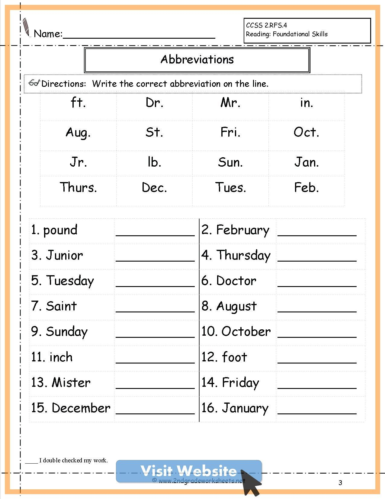 Common Core Math First Grade Worksheets Free Printable 2nd Grade Worksheets Grammar Worksheets Spelling Worksheets