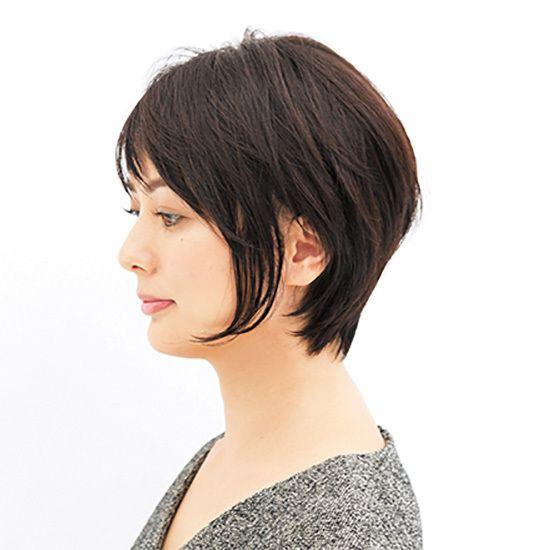 ほんのり女っぽいのが気分 絶妙ショートスタイル 40代のショートヘア ショートカット 髪型 50代 ヘアスタイル ショート 髪型