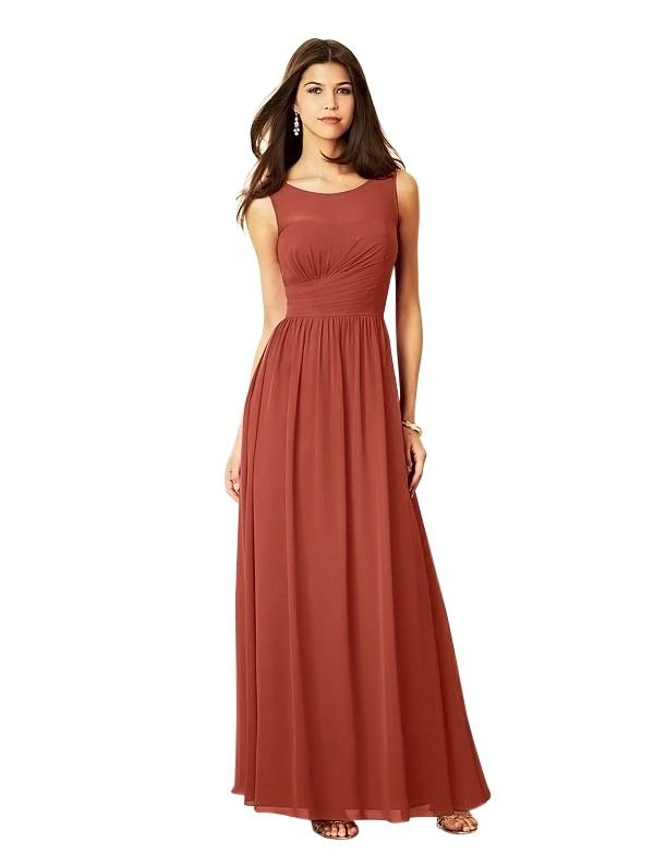 Satin Burnt Orange Bridesmaid Dresses TOBO18 | NeverEverLand ...