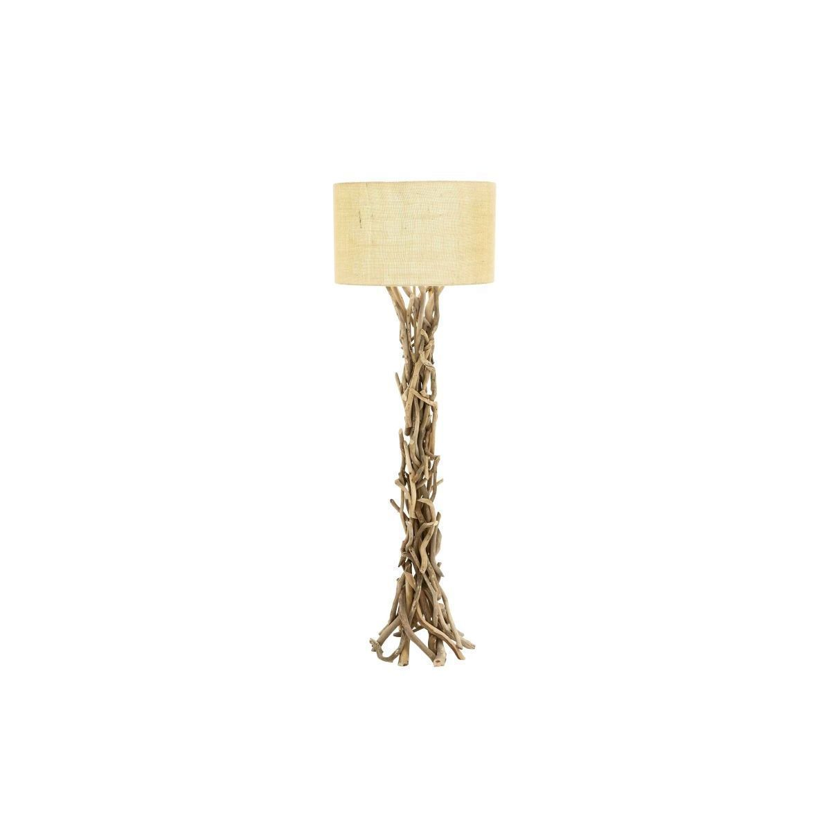 flower lamp driftwood ingenuity copper lamps yellow living glass floor most preeminent room