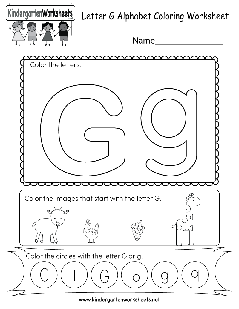 This Is A Letter G Alphabet Coloring Activity Worksheet Kids Can Color The Uppercase And Lowe Alphabet Worksheets Color Worksheets English Worksheets For Kids