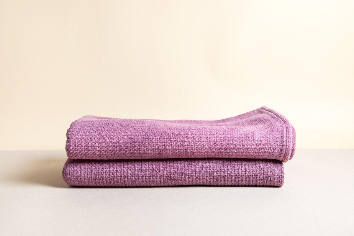 Grand Waffle Weave Towel - Plum