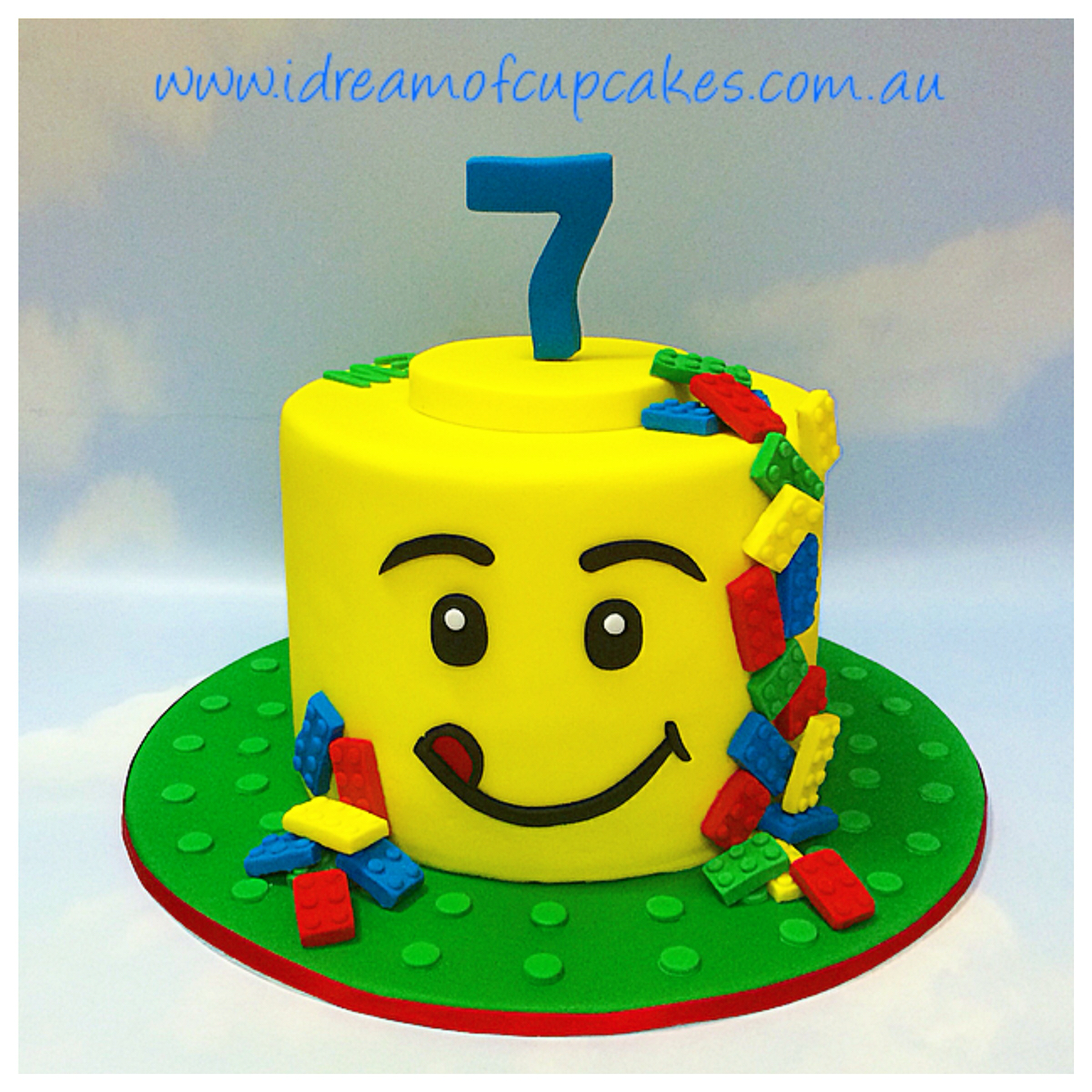 Lego Head Cake 5th Birthday Cake Boys Kaans Birthday Deas