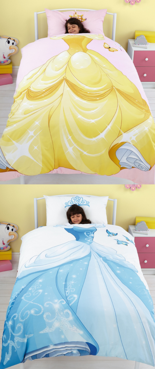I Love This Disney Princess Reversible Duvet Set One Side Has Belle And The Other Has Cinderell Disney Princess Bedroom Disney Princess Room Princess Bedrooms