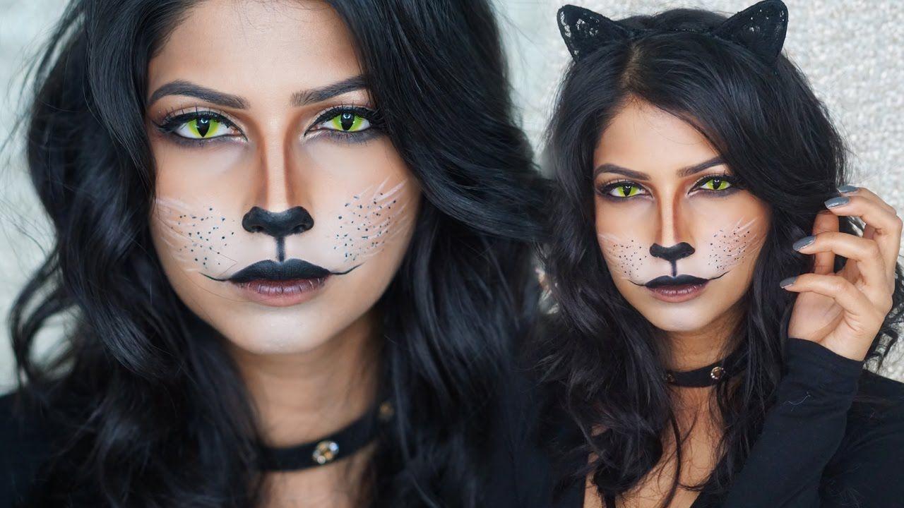 Easy Cat Makeup For Halloween Cat Halloween Makeup Cat Makeup Tutorial Simple Cat Makeup