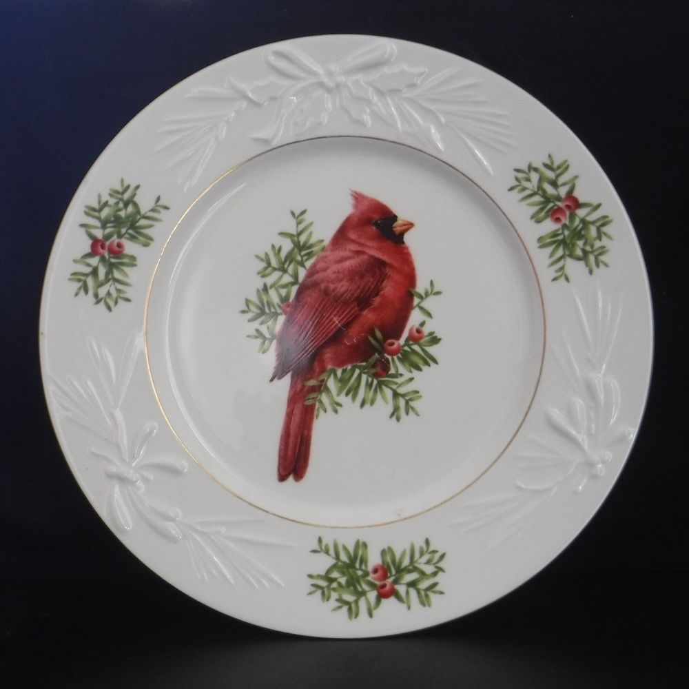 Lenox Winter Greetings Red Cardinal Figural Plate Mcclung 95