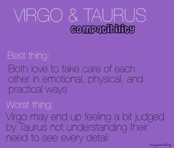 Taurus and virgo relationship
