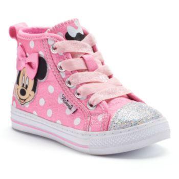 Disney S Minnie Mouse Toddler Girls Glitter High Top