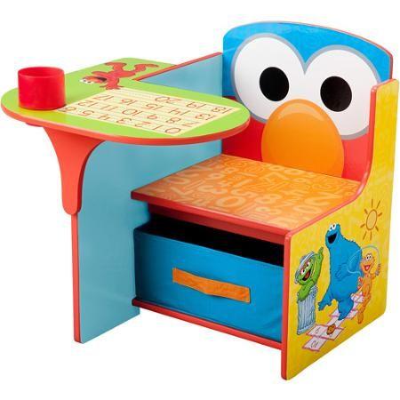 Sesame Street Elmo Toddler Desk Chair With Storage Walmart Com Toddler Desk Kids Furniture Storage Chair