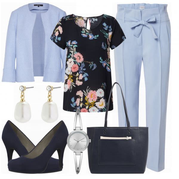 Stylischer Büro Look Outfit - Business Outfits bei FrauenOutfits.de