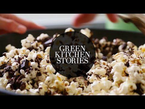Sea Salt & Dark Chocolate Popcorn | Green Kitchen Stories - YouTube