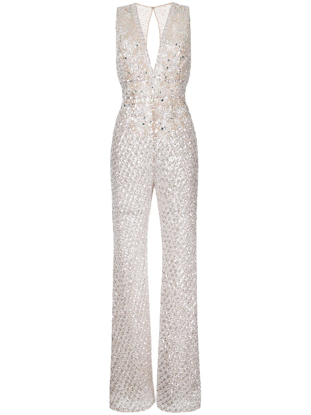 c4b00a7528 Zuhair Murad beaded flared jumpsuit