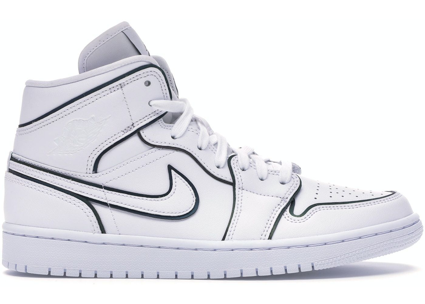 Jordan 1 Mid Iridescent Reflective White (W) in 2020 Air