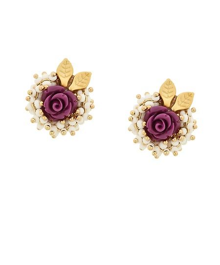 fashion with shop gold design love korean in earrings beautiful colour the rose