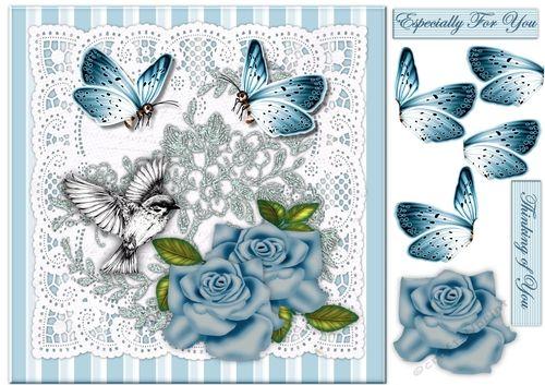 Roses & Butterflies Topper - CraftsuPrint