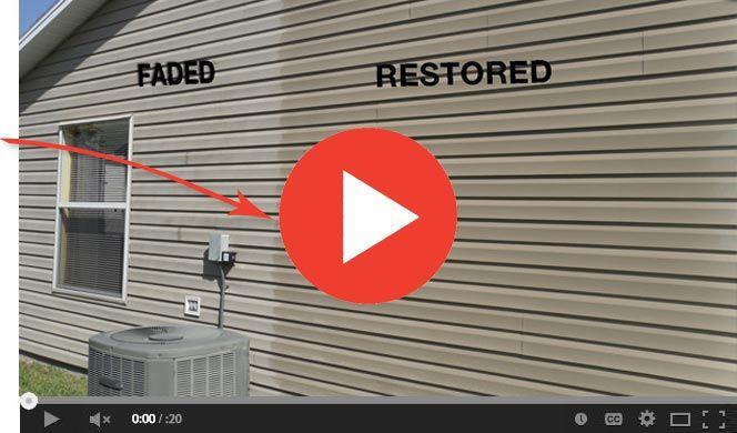 Restore Vinyl Siding With Diy Vinyl Siding Restoration Kit Only 0 43 Sq Ft Lasts Longer Than Vinyl Vinyl Siding Cleaning Vinyl Siding Painting Vinyl Siding