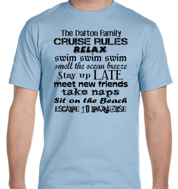 Custom Matching Lot Of 5 Family Cruise Rules By