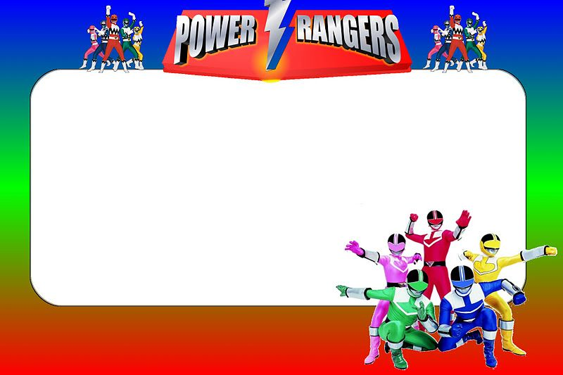 Power Rangers Free Printable Invitations Power Ranger Birthday Power Ranger Party Power Ranger Birthday Party