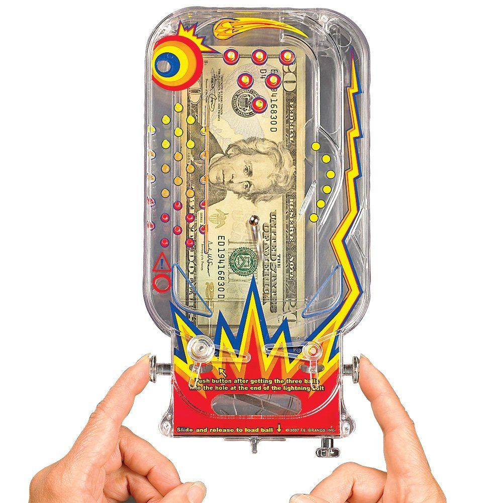 amazon com retro pinball money puzzle gift card brainteaser