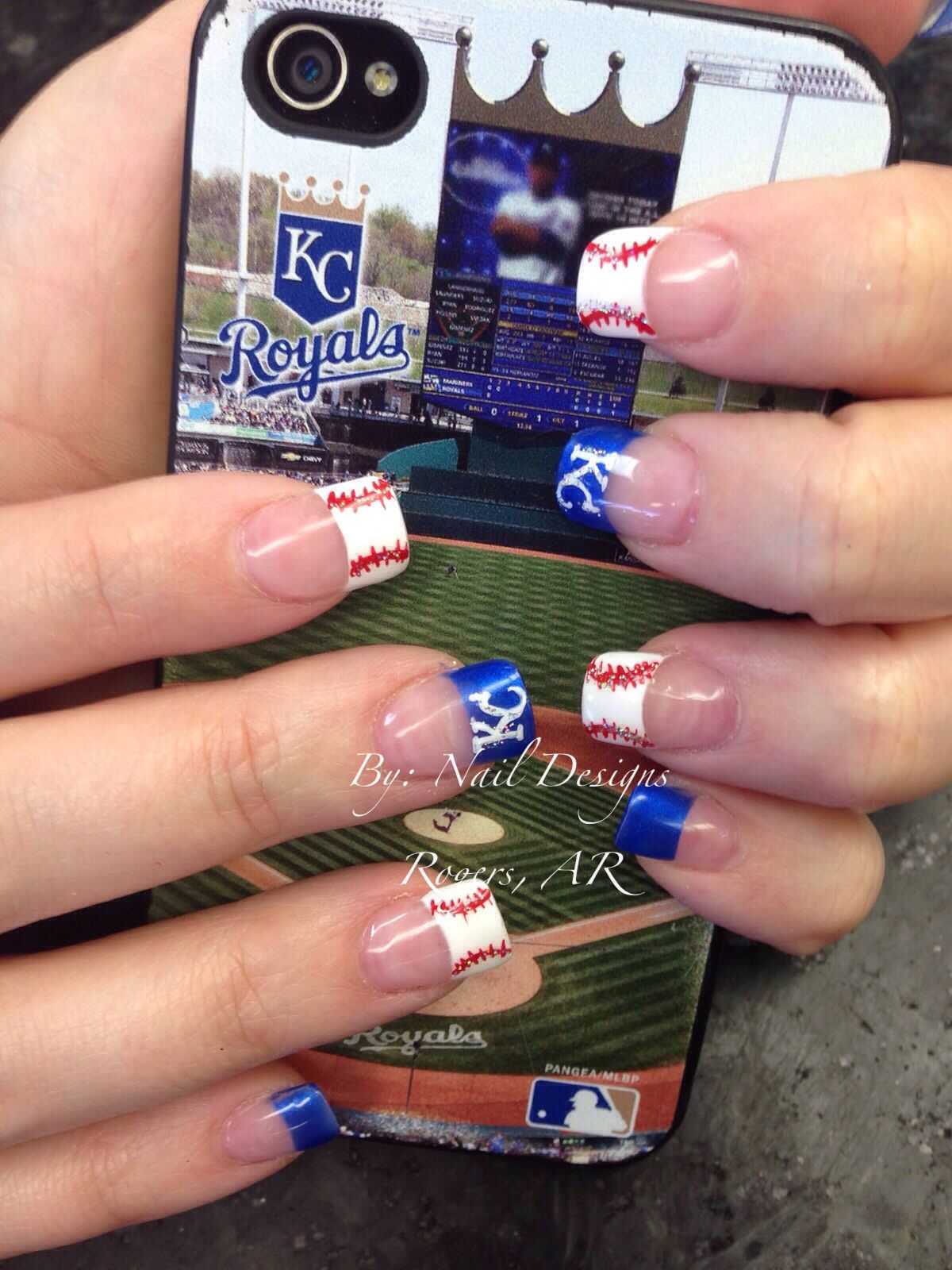 Kc royal fan | Nail Designs | Pinterest | Royals, Fans and Kansas ...