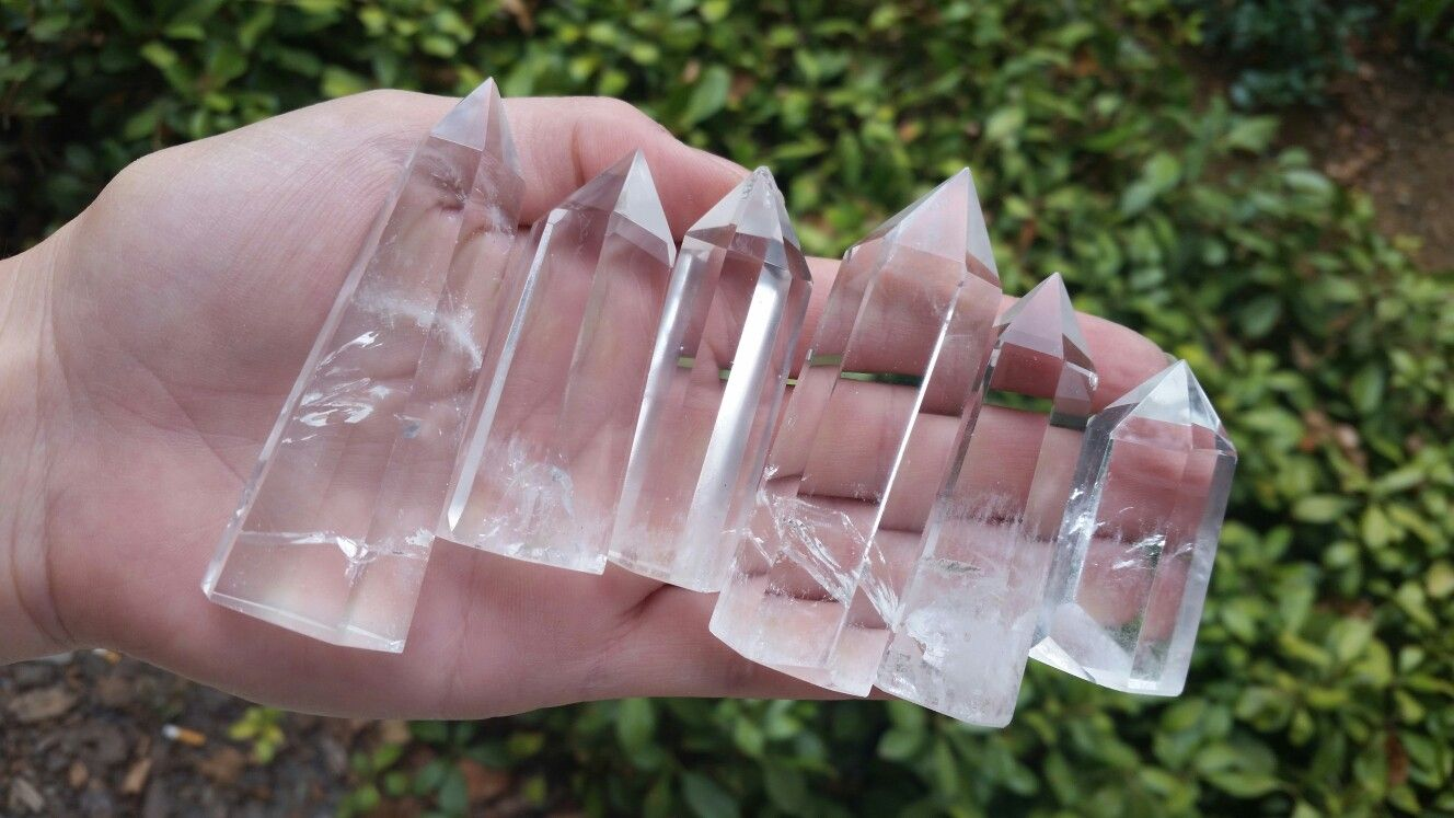 Clear Quartz Crystal Towers from Artemis.creations on