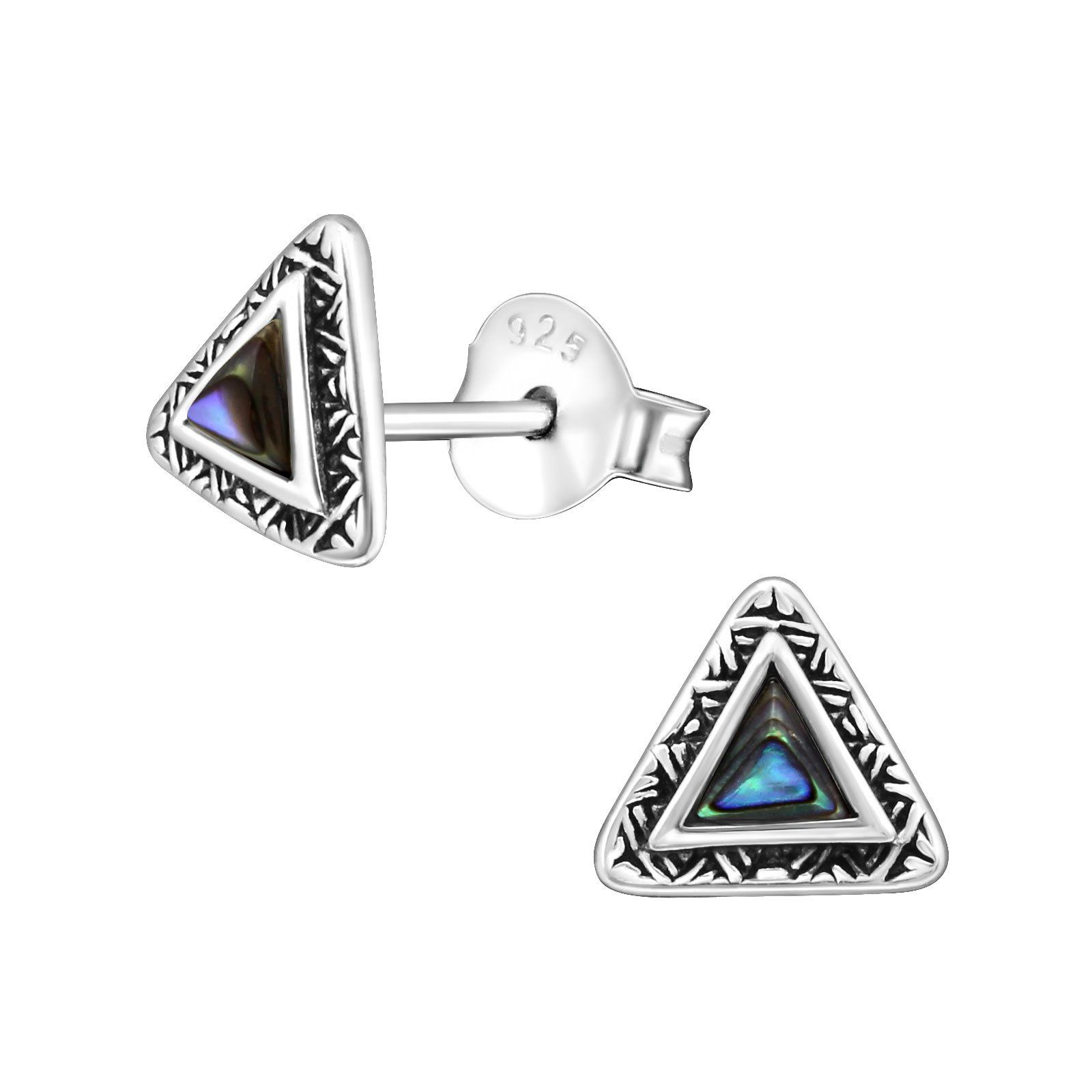 stud company shell silver abalone landing earrings shop di sterling ss accent