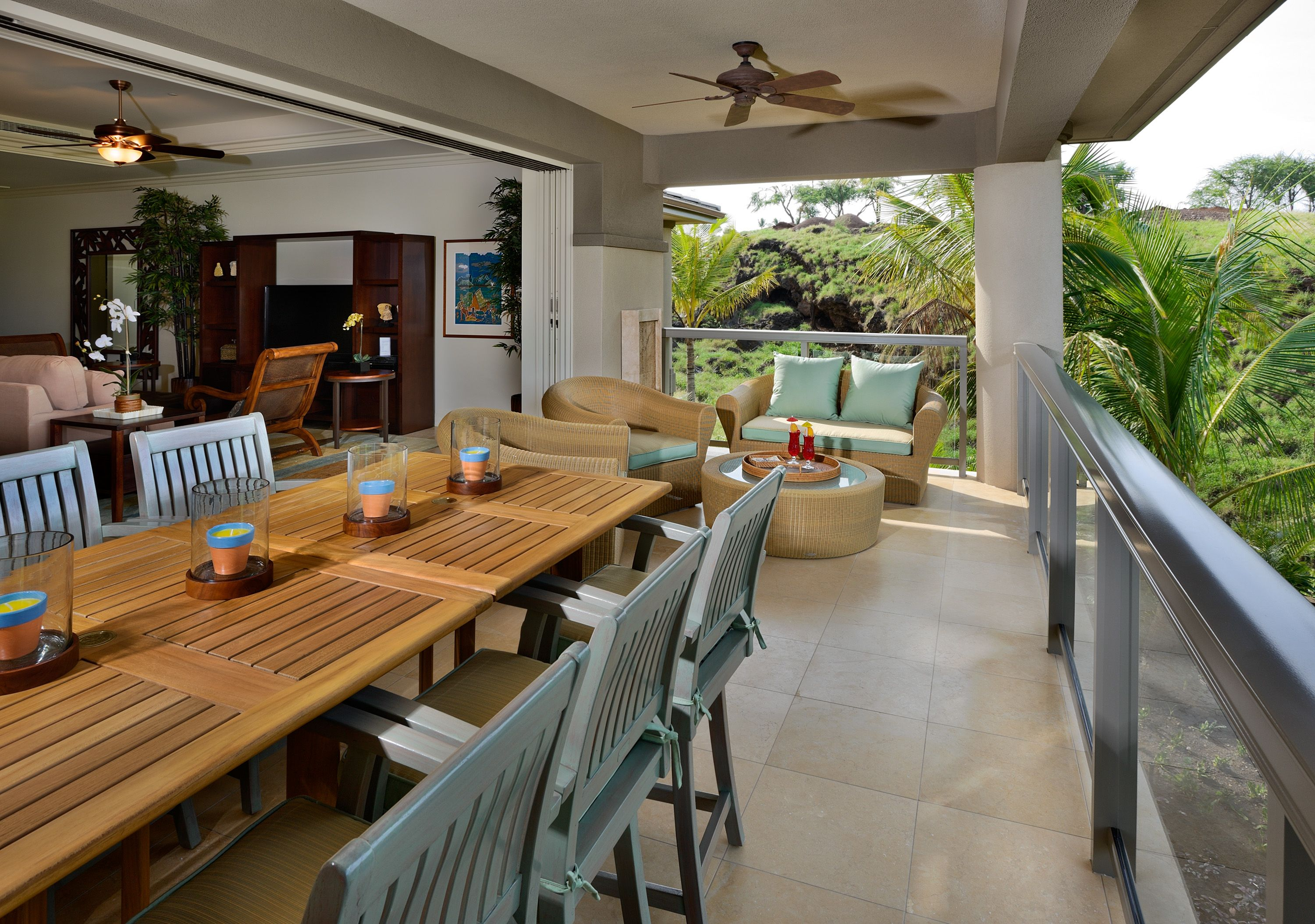 Relaxing Outdoor Lanai Dining Maui Hawaii Lanai Decorating Home Deco House Design