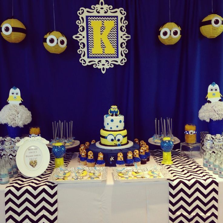 Baby Shower Minions Part - 25: Who Doesnu0026 Love The Minions From Despicable Me! Designed For A Minion Theme Baby  Shower.