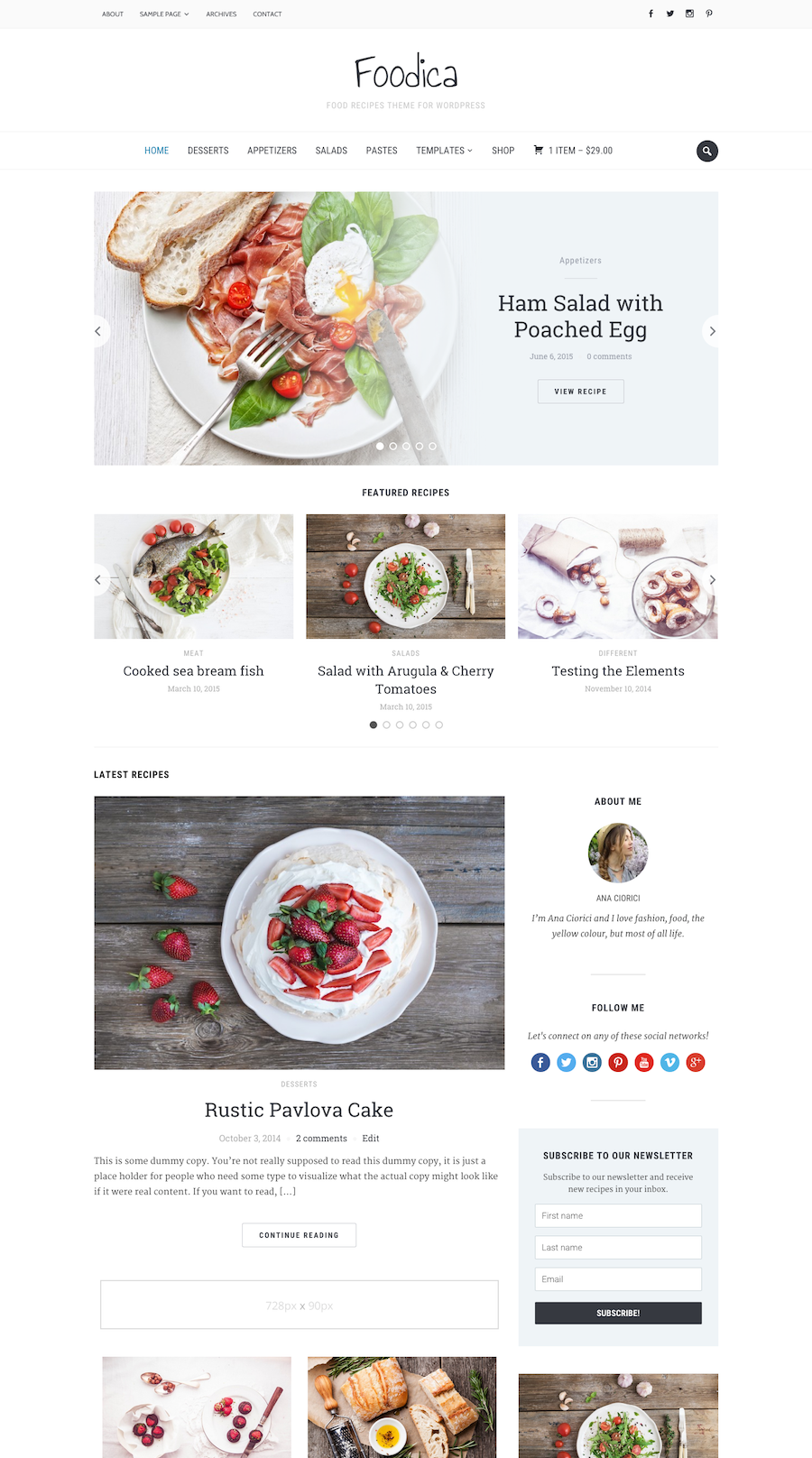 Foodica is perfect for creating food based blogs magazines and foodica is perfect for creating food based blogs magazines and recipe websites six colour forumfinder Choice Image