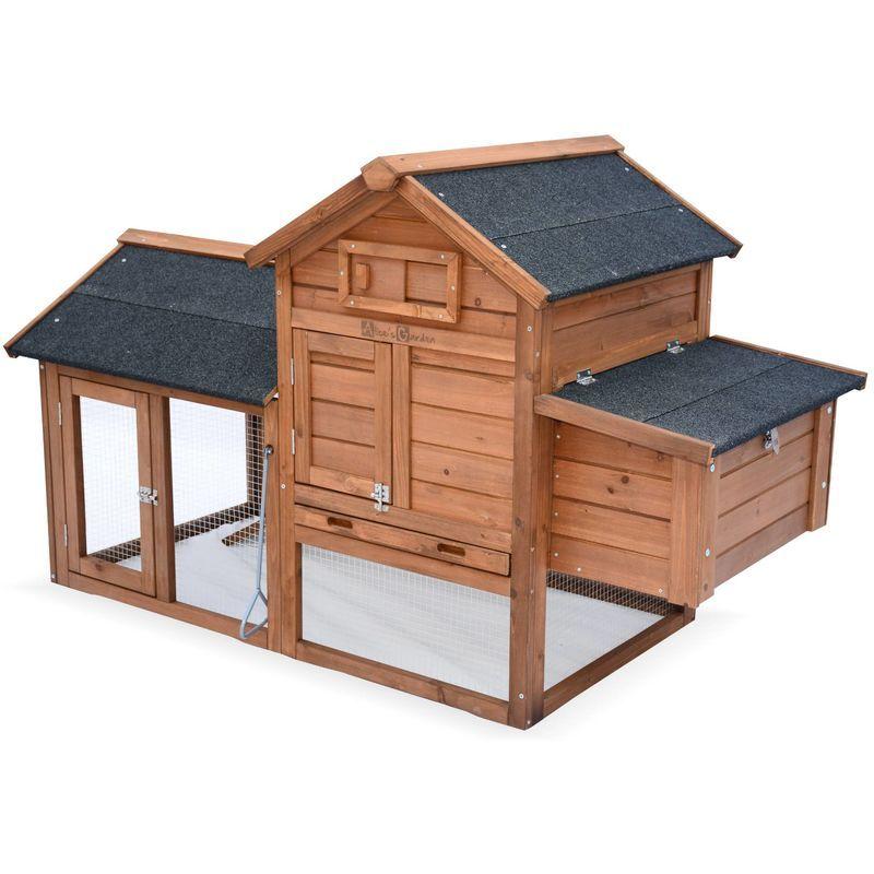 Poulailler En Bois Galinette 3 Poules Cage A Poule Avec Enclos Ckc1005sbn Poulailler Bois Cage A Poules Et Poulailler
