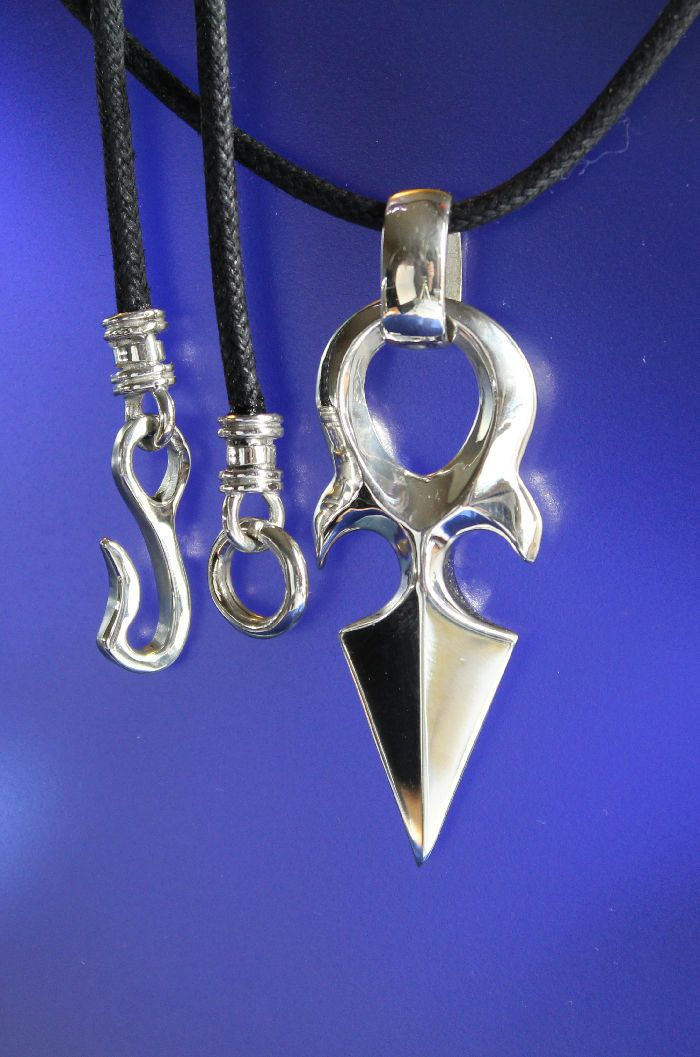 Ninja Thumb Dagger Pendant Sterling Silver Handcrafted Jewelry by RichieStubStudio on Etsy