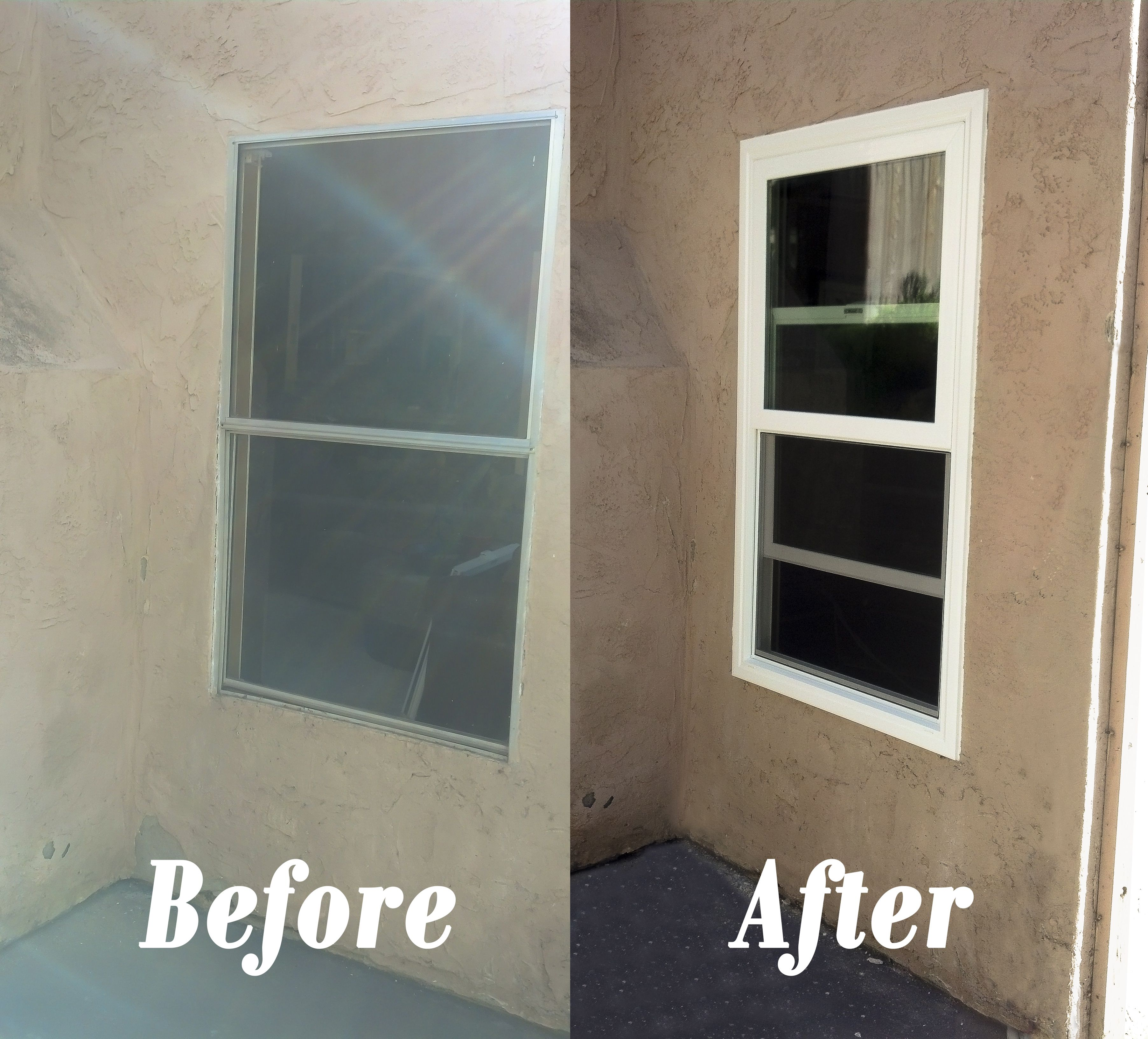 Vinyl Window Installation Before And After In San Diego Ca