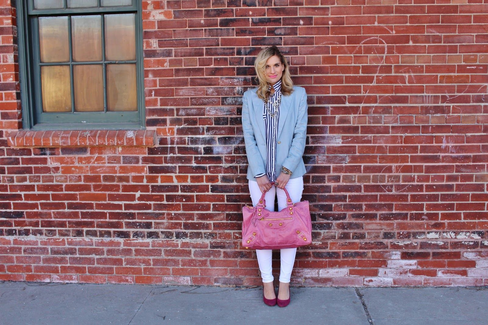 Pink dress shirt blue suit  Sumissura Custom Made Blazer  Blazers Female suits and Balenciaga