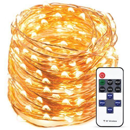 Indoor LED String Lights 200LED White Warm Christmas Lights 66Ft