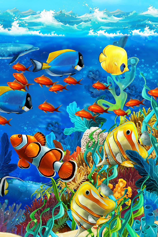 Crazy Fish | Fish art, Dolphin art, Ocean art