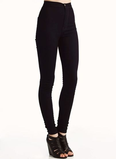 Black high waisted jeans with belt – Global fashion jeans models
