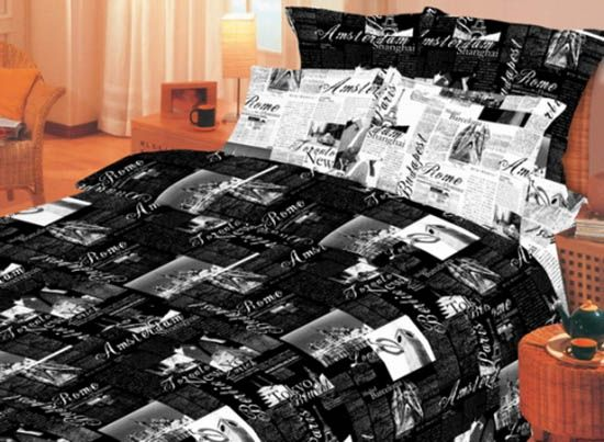 Brown, Gray and Black Bedding Sets, Neutral Bedroom Colors ...