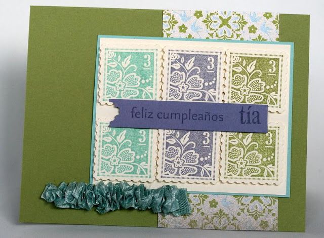 Designed by maryross: Birthday card details and pics