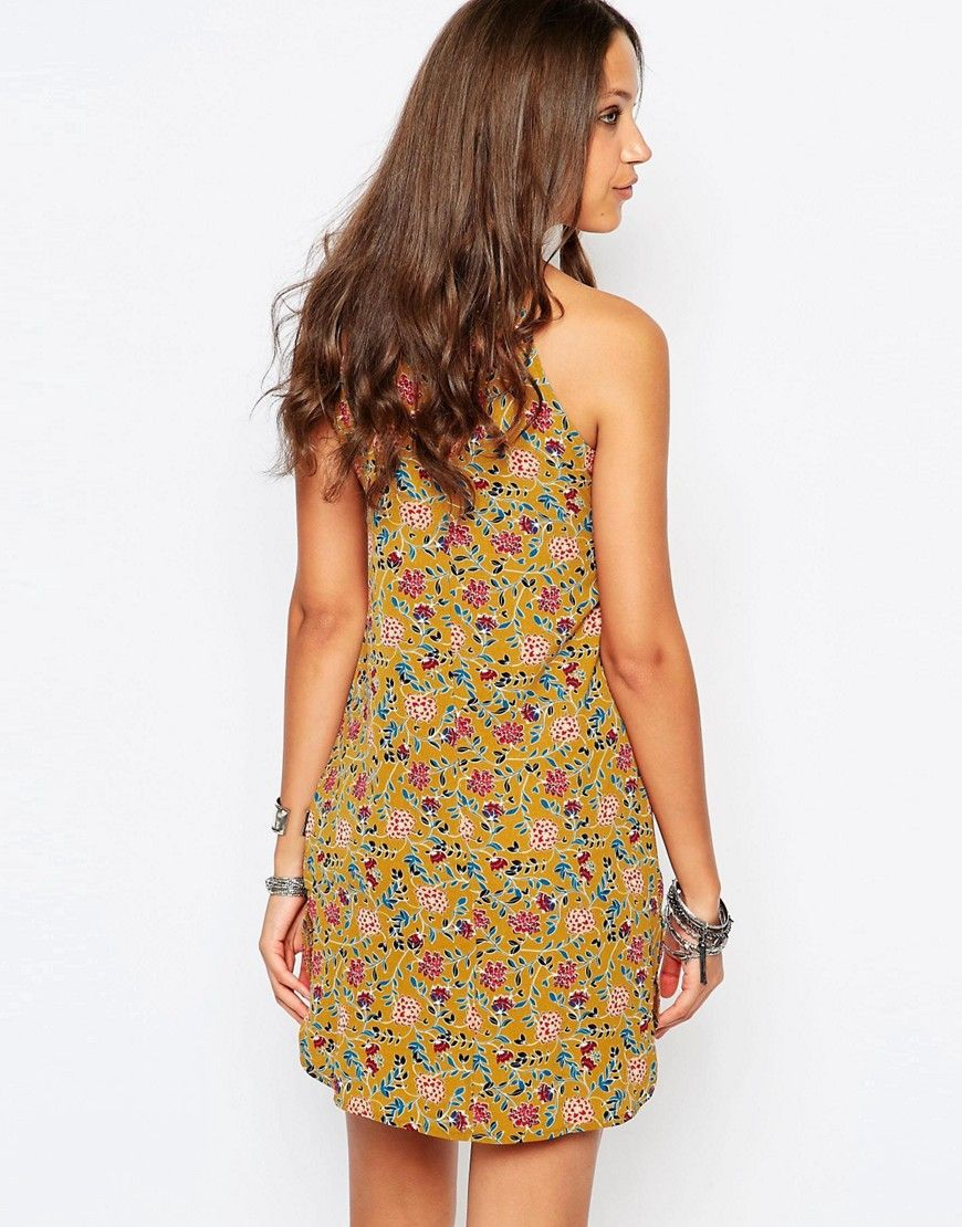 Imagem 2 de Glamorous Alto No alto Neck Impresso Vestido Solto