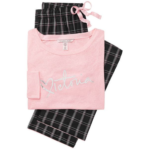 cdbcafabe9 The Lounge PJ Set - Victoria's Secret ($55) ❤ liked on Polyvore featuring  intimates