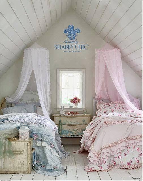 Shabby Shabby chic bedrooms Pinterest Shabby Camas y Decoracin