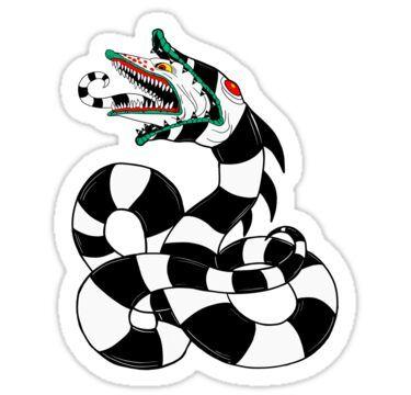 Sandworm Sticker By Danielle Brady In 2020 Beetlejuice Tattoo Tim Burton Tattoo Beetlejuice