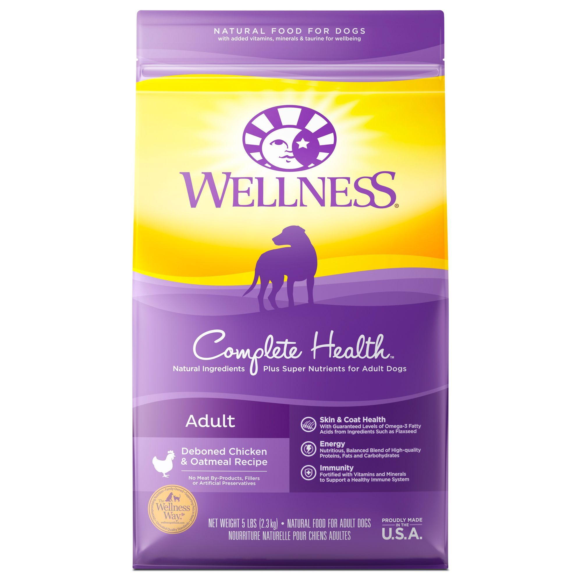 Wellness Complete Health Adult Dog Food Natural Size 5 Lb