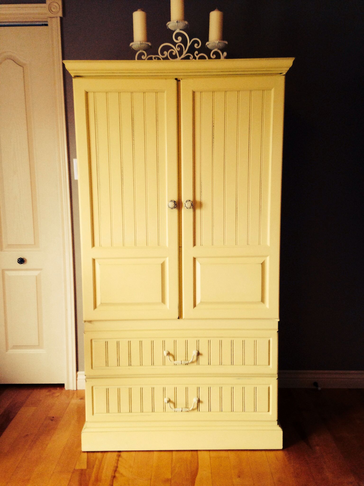 Wood Armoire Painted In A Mix Of Annie Sloan English ...