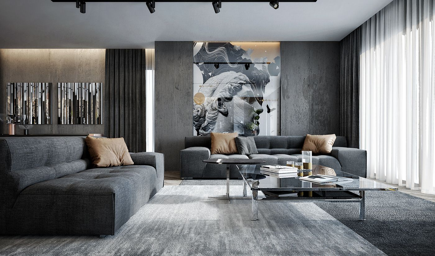 Luxury Apartment On Behance Luxury Living Room Design Luxury Living Room Living Room Design Modern Luxury apartment living room